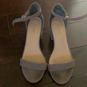 Small sleek grey/taupe heels